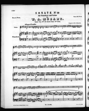 Sonate No. 29 für Pianoforte und Violine