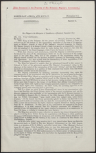 Very Confidential Letter from Constantine Phipps to the Marquess of Lansdowne - Received November 18, 1901