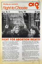 Abortion is a Woman's Right to Choose, Issue No. 17, Spring 1978