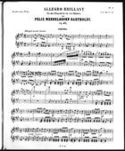 Allegro Brillant für das Pianoforte zu vier Händen, Primo Part