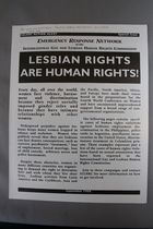 Lesbian Rights are Human Rights! Emergency Response Network of the International Gay and Lesbian Human Rights Commission, Special Issue of the IGLHRC Action Alert, September 1995