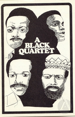 Playbill for <i>A Black Quartet</i>, a production of four plays produced by Woodie King at Tambellini's Gate Theatre, New York, July 30, 1969