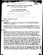 Women's International League for Peace and Freedom: Eighth International Congress, Volkshaus, Zurich, September 3-8, 1934, Minutes of Proceedings