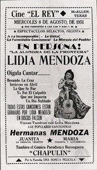 Flyer for a Performance by Lydia Mendoza, Featuring the Comic Chapulín, in McAllen, TX.