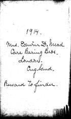 Diary 1914 - [No. 1]