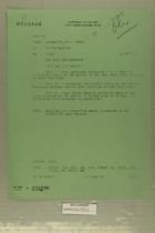 Message from USARMAT Tel Aviv Israel to DEPTAR Wash DC, September 16, 1957