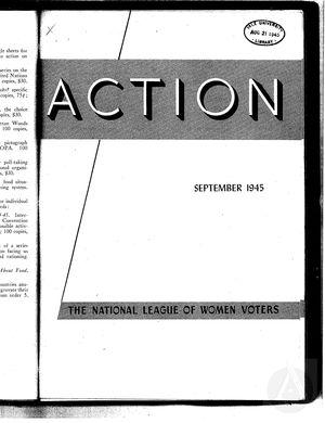 Action, vol. 1 no. 6, September 1945