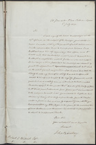 Letter from Thomas Barclay to Robert J. Wilmot, July 2, 1822