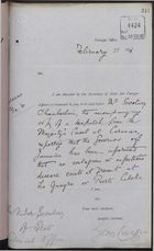 Correspondence re: No Contagious or Infectious Disease Exists at La Guayra or Puerto Cabello, February 6 - 28, 1896