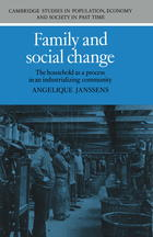 Family and Social Change: The Household as a Process in an Industrializing Community