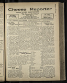 Cheese Reporter, Vol. 54, no. 18, Saturday, January 11, 1930