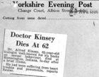 Doctor Kinsey Dies At 62