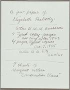 Elizabeth Palmer Peabody Papers, 1843-c. 1867