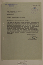 Memo from Dr. Riedl re: Observations on the Border, May 24, 1950