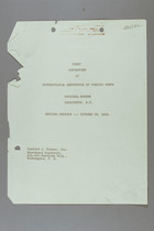 First Convention of International Conference of Working Women, Washington D.C., 28 October 1919: Proceedings of the First Day