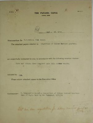 Cover Sheet For Roy R Watson Referencing Enclosed Memo From Chief Quartermaster E Wood To