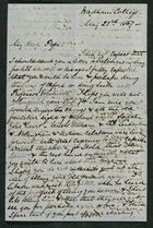 Letter from Charlie Howitt to My dear Papa, May 23, 1867