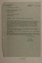 Memo from Dr. Riedl re: Illegal Crossing of Border by Czech Soldier, May 17, 1951