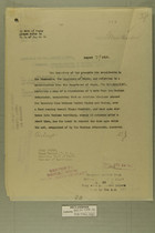 Memo from Henry Jervey re: Alleged Shooting of Mexican Customs Officer at Ciudad Juarez on May 26th, 1918, Septermber 13, 1918