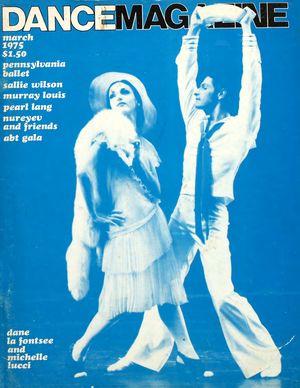 Dance Magazine, Vol. 49, no. 3, March, 1975
