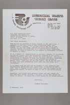 Letter from Mildred Persinger to Gwendoline Konie, February 17, 1978