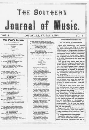 The Southern Journal of Music,  Vol. 1, no. 4, January 4, 1868