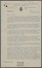Letter from Winifred M. Fox to Mr. P. Rogers re: Outline of Statutory Provisions Governing Rent Tribunals for Use During Next Committee Meeting, December 9, 1955