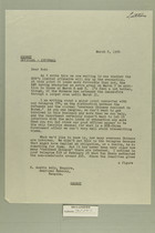 Letter from W. Wendell Blancké to R. Austin Acly, March 8, 1954