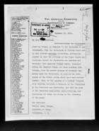 General Correspondence re: James W. Gerard's Opinion on Franco-Turkish Treaty