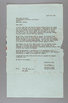 Letter from Katherine Briggs to Ruth Lois Hill, April 28, 1954