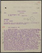 Cypher Telegram from Governor of Barbados to Secretary of State for the Colonies, November 9, 1940