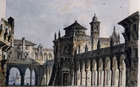 Set design by Pietro Bertoja (1828-1911) for fourth act of Il Corsaro (The Corsair), opera by Giuseppe Verdi (1813-1901)