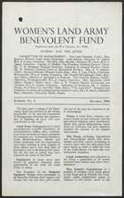 Women's Land Army Benevolent Fund, Bulletin No. 2, October, 1943