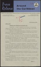 Press Release - Around the Caribbean - Timetable for Commonwealth Immigrants Bill, November 2, 1961