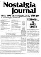 The New Nostalgia Journal, no 27