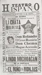Flyer for La Chata Noloesca at the Teatro Hispano, New York, NY.
