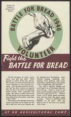 Fight the Battle for Bread