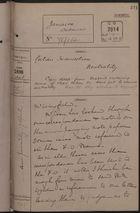 Correspondence Cover Sheet re: Cuban Insurrection Neutrality, April, 1896