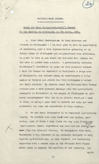 National Mark Scheme: Notes for Miss Picton-Turbervill's Speech at the Meeting in Birmingham on March 6, 1931