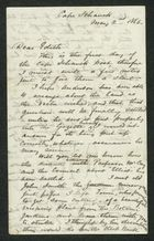 Letter from Edward La Trobe Bateman to Edith Anderson, May 2, 1866