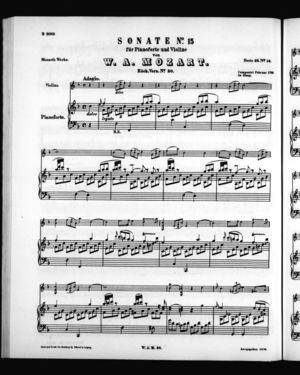 Sonate No. 15 für Pianoforte und Violine, K. 30, F Major
