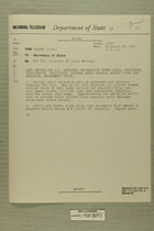Telegram from U.S. Army Attache in Tel Aviv to Secretary of State, Nov. 24, 1955
