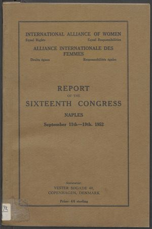 Report of the 16th Congress, IAW