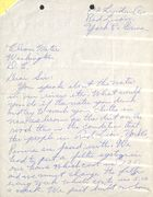 Handwritten Letter from Constituent re: Water Pollution in York County, PA, 1963