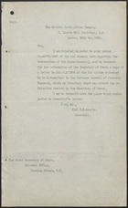 Communication Dated May 28, 1909 from D. E. Brodie to the Under Secretary of State re: An Attached Letter from Mr. H. Sawerthal, April 2, 1909