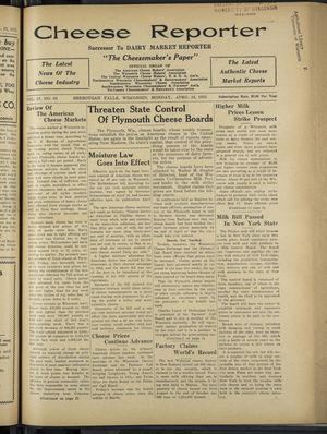 Cheese Reporter, Vol. 57, no. 33, April 24, 1933