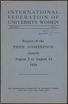 IFUW conference proceedings, 5