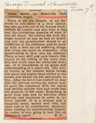 Adam Breed by Radclyffe Hall (Chicago Journal of Commerce - June 7)