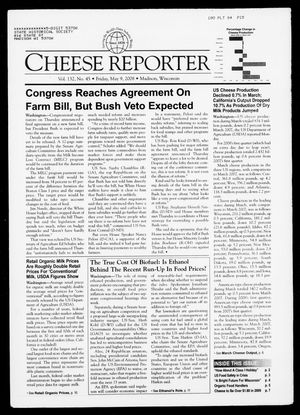 Cheese Reporter, Vol. 132, No. 45, Friday, May 9, 2008