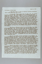 Letter from Carrie Chapman Catt to Friends of Rosa Manus, July 10, 1942